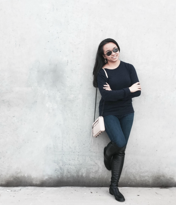 In the Navy :: OTK Boots & Blush Crossbody Bag