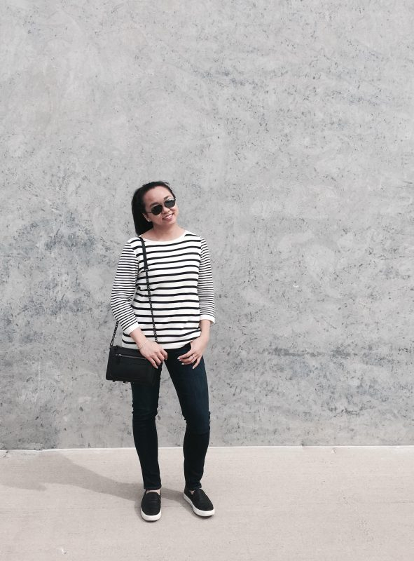 Staying in Stripes :: Stripe Sweater & Perforated Sneakers