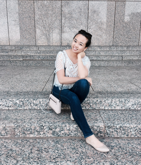 Casual Valentine's Day Look :: Lace Tee & Skinny Jeans