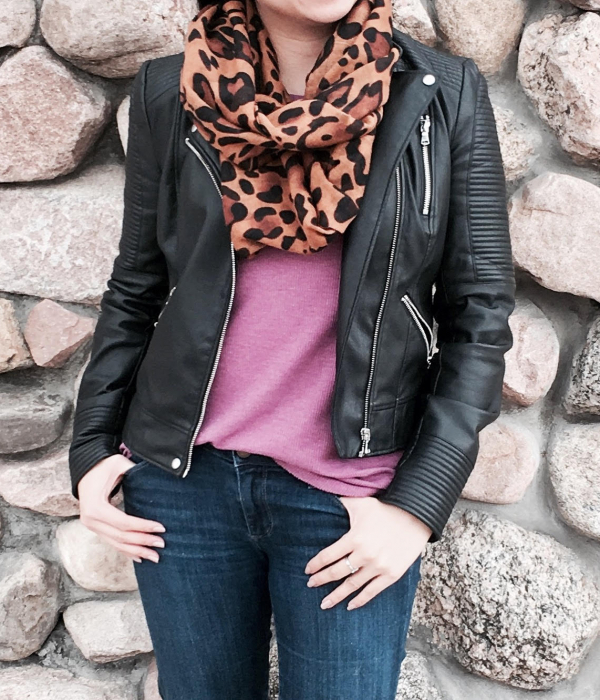 Spring Thinking :: Fuchsia Thermal & Leopard Infinity Scarf