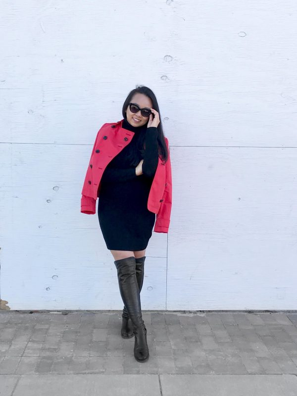 My Greatest Consignment Find Yet :: Burberry Trench & Turtleneck Sweater Dress