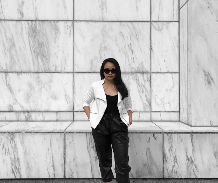 Athleisure Outfit: How to Style (Faux) Leather Joggers