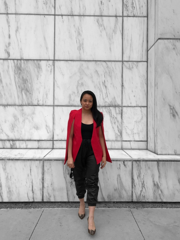Casual Holiday Outfit: How to Style (Faux) Leather Joggers