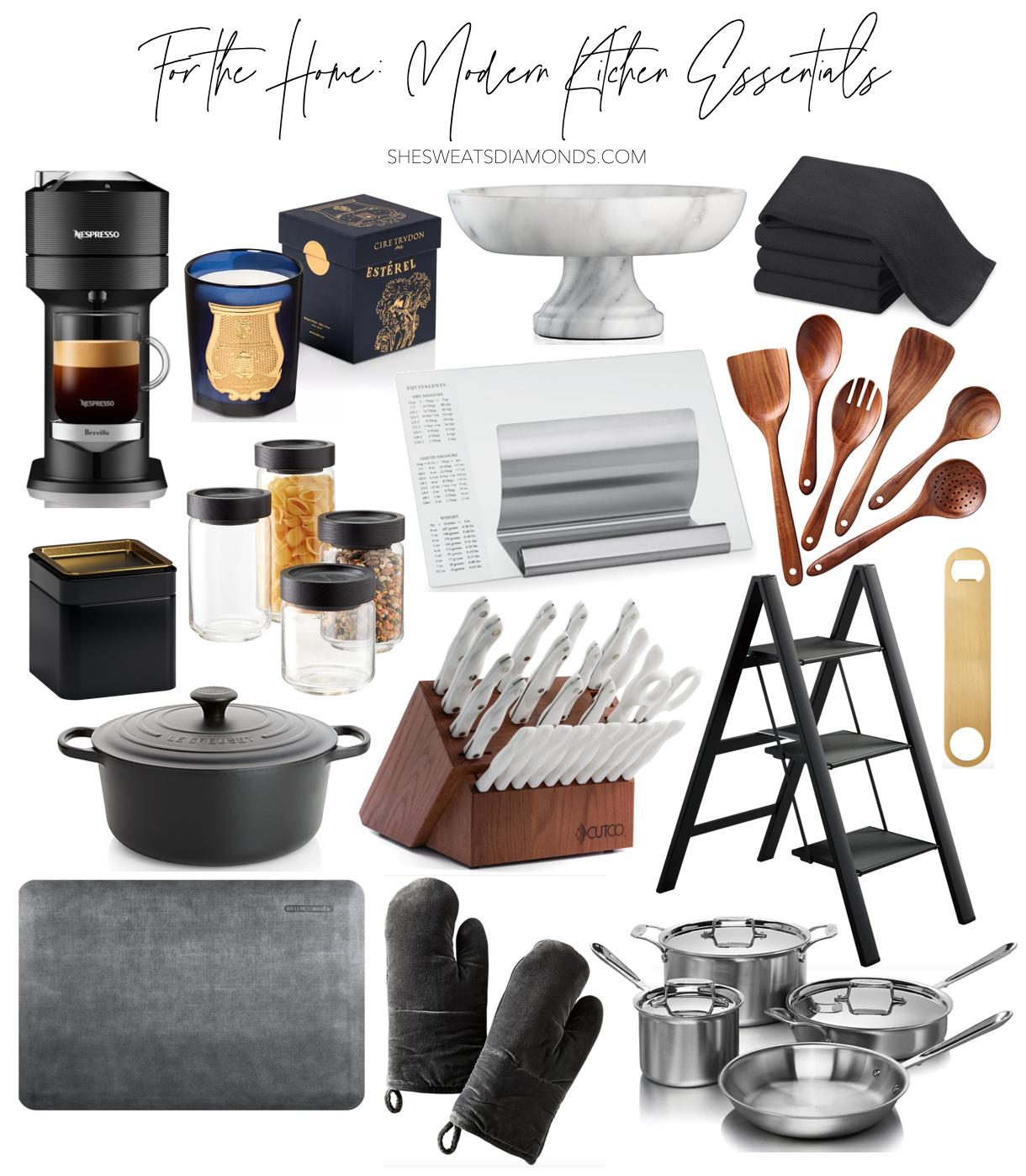 For the Home: Modern Kitchen Essentials  She Sweats Diamonds