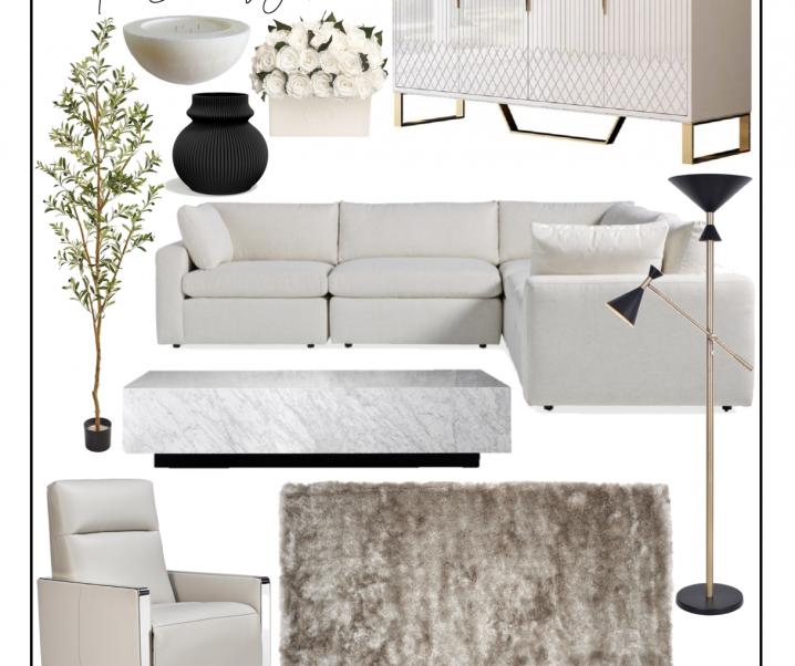 Mood Board: Neutral Modern Living Room